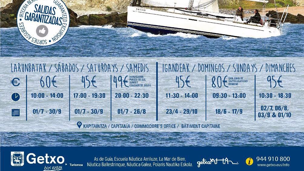 Salidas Marítimas regulares organizadas por la Oficina de Turismo de Getxo